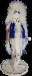 Satinka wearing her mask
